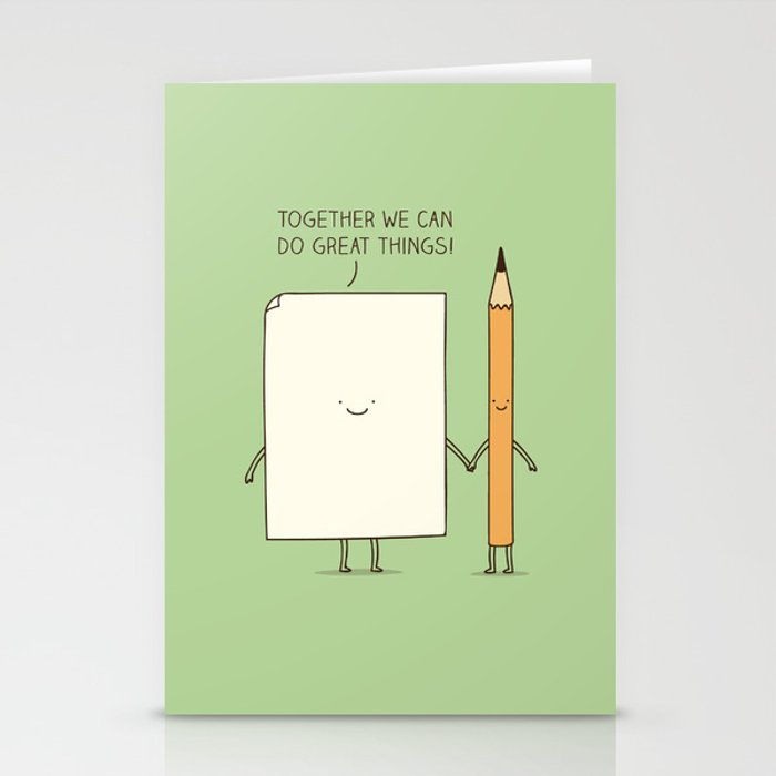 Together we can do great things! Stationery Cards