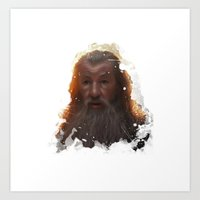 gandalf Art Prints featuring Gandalf by Ryky