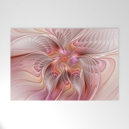 Abstract Butterfly, Fantasy Fractal Welcome Mat