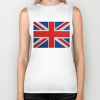 union jack Biker Tanks featuring Union Jack by GoldTarget