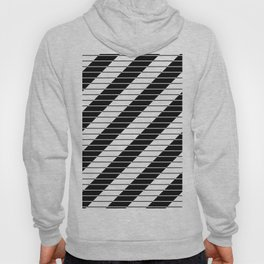 Simply Black And White (Abstract, geometric design) Hoody