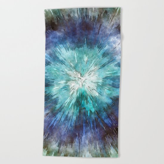Hues of Blue Tie Dye Beach Towel