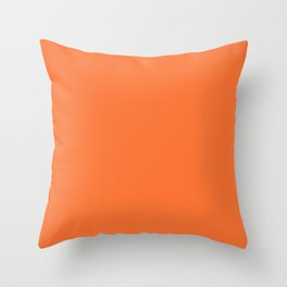 Simply Solid - Construction Cone Orange Throw Pillow
