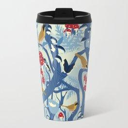 North American Forest Pattern (Blues) Travel Mug