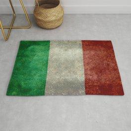 Italian flag, vintage retro style Rug