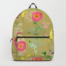 Golden Botanical Backpack