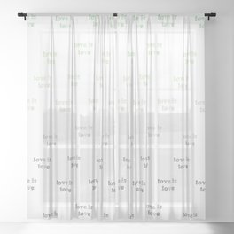 Love is Love - aromantic pride - seamless doodle pattern Sheer Curtain