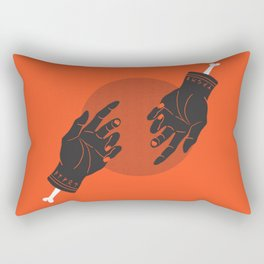 red rune hands Rectangular Pillow
