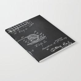 Gibson Guitar Patent Les Paul Vintage Guitar Diagram Notebook