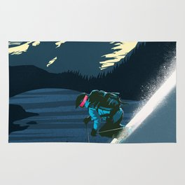 Retro Revelstoke ski poster Rug