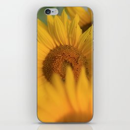 Fingers crossed & sweatin' it * Sunflower inchworm iPhone Skin