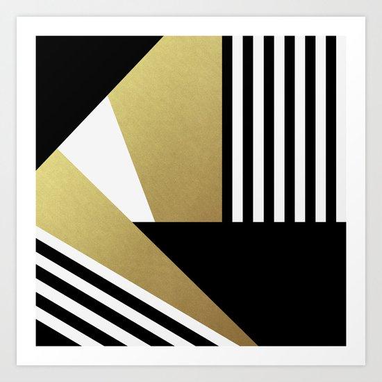 Glamorous Stripes Art Print