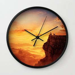 recalling childhood together Wall Clock