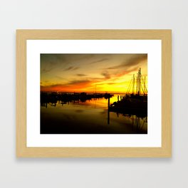 sailor sunset Framed Art Print