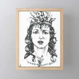 Butterfly Crowned Priestess Framed Mini Art Print