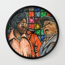 Aunt Esther vs. Fred Sanford Wall Clock