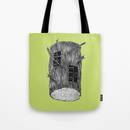 Mysterious Forest Creatures In Tree Log Tote Bag