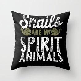 Snail Spirit Animal Throw Pillow