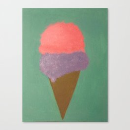 Ice Cream Snow Cone Canvas Print