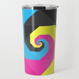 CMYK triangle spiral Travel Mug