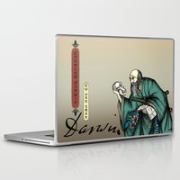darwin Laptop & iPad Skins featuring Samurai Charles Darwin by QStar