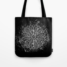 Notre Dame Rose window-Cathedral-Architecture-Paris Tote Bag