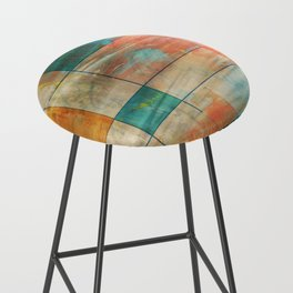 MidMod Art 5.0 Mirror Graffiti Bar Stool