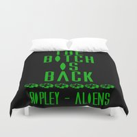 aliens Duvet Covers featuring Aliens by SwanniePhotoArt