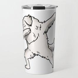 Funny Dabbing Great Pyrenees Dog Dab Dance Travel Mug