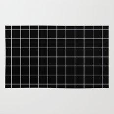Black White Grid Rug