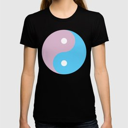 Transgender Yin Yang Symbol T-shirt
