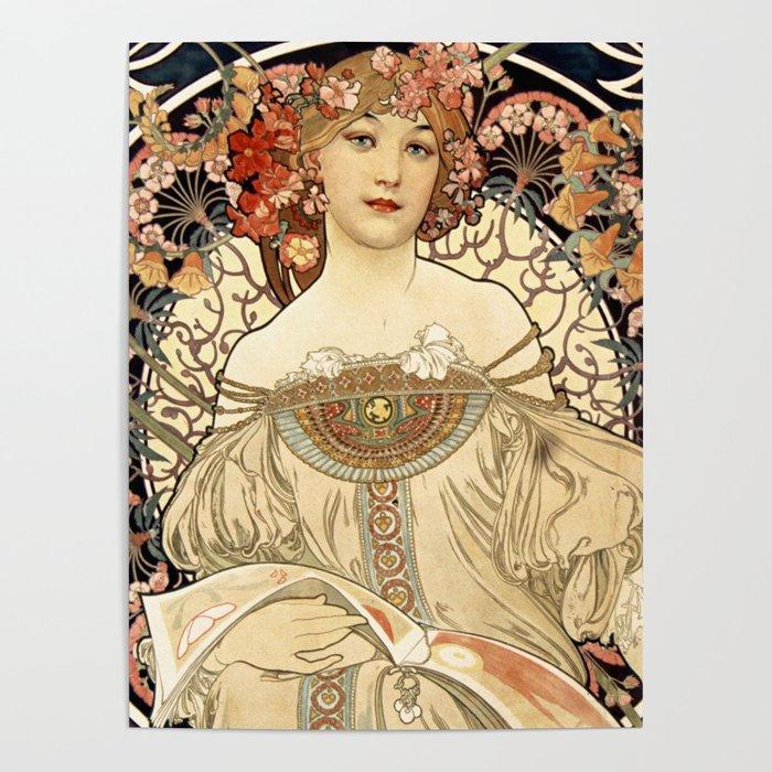 Art Nouveau Poster by colorandpatterns