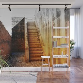 Rustic Fortress Stairway Wall Mural