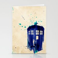 doctor Stationery Cards featuring Doctor Who TARDIS Rustic by Art by Colin