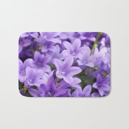DREAMY - Purple flowers - Bellflower in the sun #1 Bath Mat