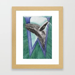 W is for Whale Framed Art Print