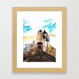 Berg Eltz Castle watercolor painting Framed Art Print