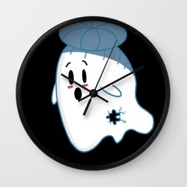 Little Ghost Scattered Wall Clock