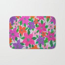 Colorful Spring Floral Garden Bath Mat