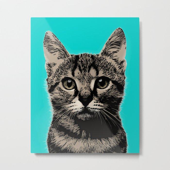 Cat. Pop art cat Metal Print