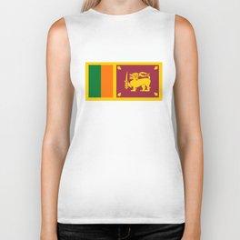 Sri Lanka country flag Biker Tank