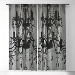 Crystal Chandelier Pop Art Graphic Design Black and White Grey Scale Gray Tones Pattern Digital Image Designer Lights Photography  Blackout Curtain
