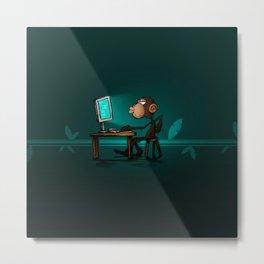 Monkey Genius Metal Print