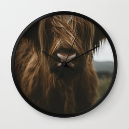 Scottish Highland Cattle Wall Clock