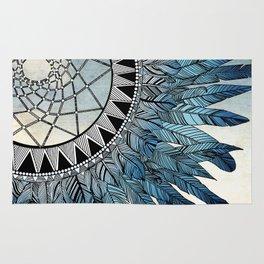 blue feather dreamcatcher Rug
