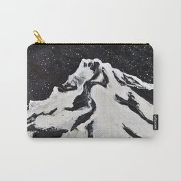 Mount Hood and Stars Carry-All Pouch