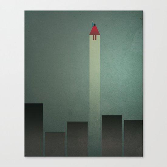 Smooth Minimal - Flying man Canvas Print
