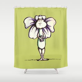 """Art History"" Flowerkid Shower Curtain"