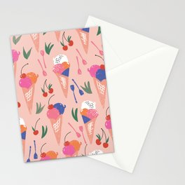 Handmade Gelati Dream // Summer Design // Pattern Stationery Cards