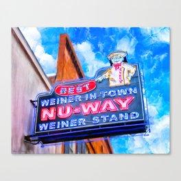 Nu-Way Weiner Stand - Historic Macon Georgia Canvas Print